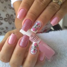 Mesmerizing Pink Nail Designs to Copy In 2020 Classy Nail Designs, Pink Nail Designs, Beautiful Nail Designs, Acrylic Nail Designs, Pink Nail Art, Pink Nails, Trendy Nails, Cute Nails, Gel Uv Nails