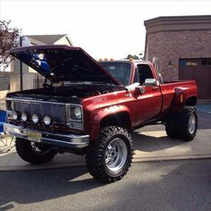 Nice Chevy with stacks