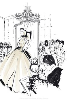 """From Hardie Grant's """"The Dress: 100 Iconic Moments in Fashion"""" by Megan Hess. Illustration Megan Hess, Dress Illustration, Illustration Sketches, Kerrie Hess, Arte Fashion, Fashion Brand, Fashion Sketches, Fashion Illustrations, Fashion Drawings"""