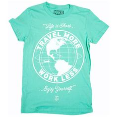 Travel Tee Women's Mint, $20, now featured on Fab.