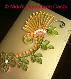 What a pretty card! Love the quilling on this. (re-pinned)