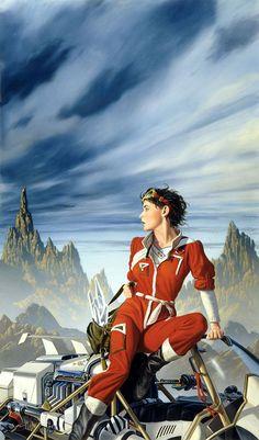 Michael Whelan has some great retro sci-fi art. - Album on Imgur