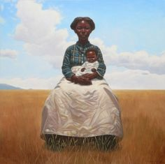 """""""La Madona,"""" from the book """"Heart and Soul: The Story of America and African Americans"""" by author and illustrator Kadir Nelson (Black Pieta)"""