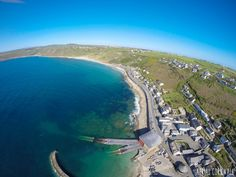 West Cornwall: Tiny fishing villages meet granite rock and a dramatic coastline. Rugged scenery and fishing coves are waiting to be explored. Cornish Beaches, South West Coast Path, West Cornwall, Fishing Villages, Aerial Photography, Great Britain, Paths, Coastal, Scenery