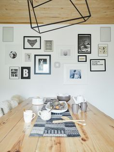 Chic design for dining room. I love how well Nest Protect blends in with my photo gallery, just like a frame on the wall.