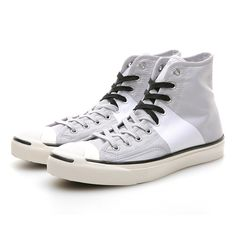 CONVERSE, JP JOHNNY WELD SNEAKERS: welding fabric for that sick stripe. #converse #jack_purcell #hightop #shoe $90