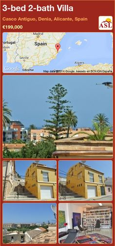 3-bed 2-bath Villa in Casco Antiguo, Denia, Alicante, Spain ►€199,000 #PropertyForSaleInSpain