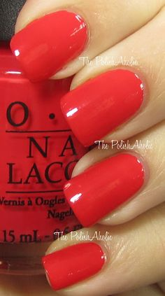 OPI Dutch Collection - Red Lights Ahead... Where? (credits to The Polish Aholic)