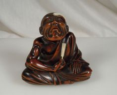 Antique Japanese Carved Wood Netsuke
