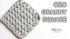 Hermoso motivo a crochet perfecto para crear esta técnica de colores de C2C para hacer mantas con diseños pixelados a crochet, si desde hace rato esta Crochet Mittens Pattern, Crochet Motif Patterns, Crochet Granny, Knit Crochet, Crochet Hats, Crochet Blankets, Bella Coco, Granny Square Tutorial, Learn To Crochet