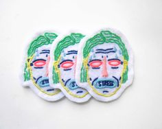 Feeling stressed but don't want to say?  Cool, same! Let this patch speak for you! Enjoy these 100% handstitched  patches. Made with my two hands, no two p