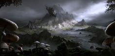 The Elder Scrolls Online: Morrowind Vista shot, Darek Zabrocki on ArtStation at https://www.artstation.com/artwork/dBVrK