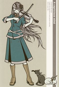 A capricious win~ all her work rocks! Anime Poses, Female Anime, Pose Reference, Rwby, Art Google, Violin, Art Girl, Concept Art, Art Drawings