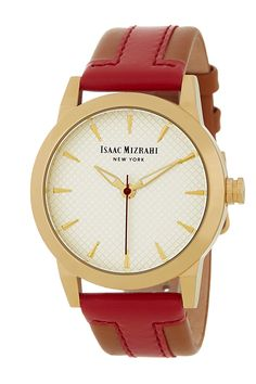 Round Colorblock Strap Watch by Isaac Mizrahi on @nordstrom_rack.... perfect for work!