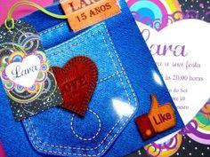 Convite Jeans | Sonho de Papel Convites | Elo7 por Divonsir Borges
