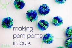 Making Pompoms in Bulk