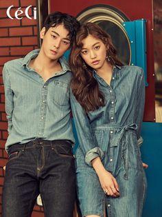 Eunwoo (Astro) & Kim Doyeon - Céci Magazine March Issue '17
