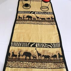 Bring a little bit of Africa to your interior with these African safari theme table runners. Made from high-quality kuba cloth. The heavyweight material provides beautiful safari accent definition for your design while also being the perfect comp. African Interior, African Home Decor, Printed Curtains, Safari Theme, Great Housewarming Gifts, African Safari, Hostess Gifts, Event Decor, Table Runners