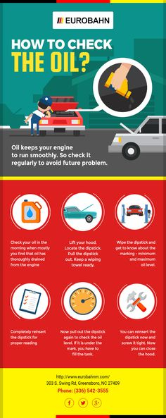 Oil keeps your engine run smoothly. So check it regularly to avoid future problem.