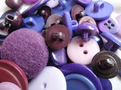 Purple Button Mix 8 to 30mm 80 to 100 Buttons by Spasojevich, $5.00