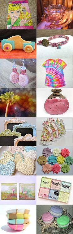 Springtime Pastels by Angel Heart Designs on Etsy--Pinned with TreasuryPin.com