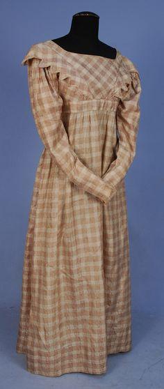 Plaid Silk Dress, 1820