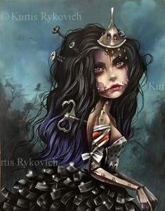 Tin Woman – The Art of Kurtis Rykovich Art Emo, Goth Art, Dark Fantasy Art, Dark Art, Chicano, Illustrations, Illustration Art, Art Sinistre, Glenn Arthur