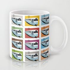 Gothenburg tramway Mug by Pop-in Local graphics and clothing - $15.00