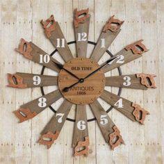 Preorder - Rustic Saw Clock Country Decor, Rustic Decor, Rustic Design, Recycling, Deco Retro, Boutique Deco, Scrap Metal Art, Clock Decor, Wood Clocks