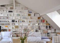 Paris / Un appartement lumineux sous les toits / | ATELIER RUE VERTE le blog
