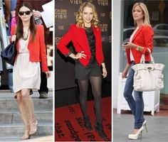 Red blazer is a must have.