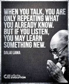 Exactly! I make my decisions based on listening. I've listened to enough bull shit. Time to move on.