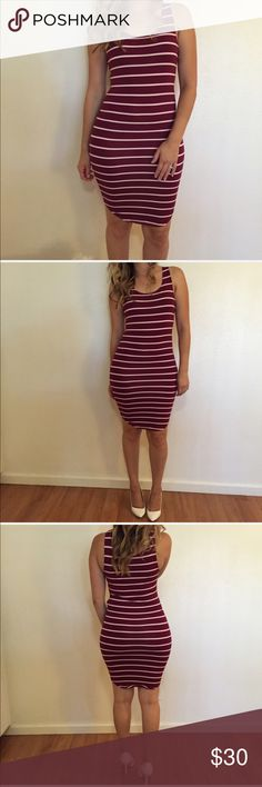 Burgundy Striped Curved Hem Tank Dress Burgundy & White Striped Curved Hem Tank Dress. 92% polyester. 8% spandex. True to size. Stretchy. Model is wearing a small for reference. No trades. 15% discount on all 3+ bundles made with the bundle feature. No offers will be considered unless you use the offer tab. Thank you!     👉 Please follow 📱 Instagram: BossyJoc3y Dresses Midi