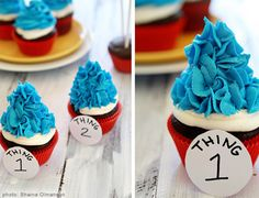 Thing 1 and Thing 2 Cupcakes | The Cat in the Hat | Babble