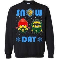 Minion North Dakota State Bison Ugly Christmas Sweaters Snow Day Snowflake Sweatshirts