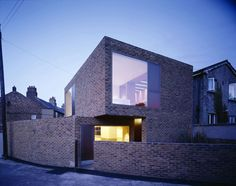 Richmond Place house by Irish architects Boyd Cody. Nice solid character and beatiful big window.