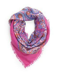 VIOLETA - Accessories - Paisley print scarf
