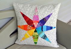 Lovelea Designs: Finished Star Pillow! Using Carolyn Friedlander's Architextures fabric