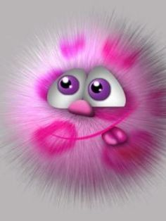 Little Pink Fuzzy Emoji Wallpaper, Cellphone Wallpaper, Phone Wallpapers, Vogel Gif, Cute Monsters, Cute Cartoon Wallpapers, All Things Cute, Cute Creatures, Funny Faces