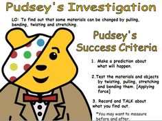 Get your thinking caps on and jump into the lab with Pudsey and this science based resource. Nursery Activities, After School Club, Success Criteria, Bear Crafts, Children In Need, Eyfs, Phonics, Teaching Resources