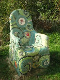 Frances Green - Mosaic Chair Tutorial