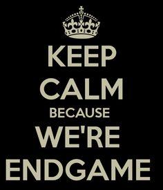 Keep Calm because we're endgame #Finchel #Glee