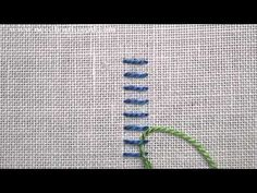 I ❤ embroidery . . . Raised Stem Stitch Video Tutorial~ The nice thing about the raised stem stitch is that it is a quick way to fill up a raised space with embroidery. Once the foundation stitches are worked, the thread passes over and under the foundation stitches, but not through the fabric, which moves the stitch along at a rapid rate.