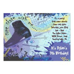 441 best roller skating birthday party invitations images birthday