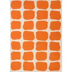 Handmade Flat Weave Abstract Pattern Orange/ White Rug (8' x 10') | Overstock.com Shopping - Great Deals on JRCPL 7x9 - 10x14 Rugs 490