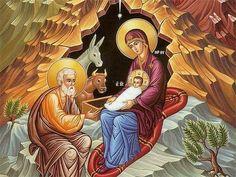 nativity of christ orthodox icon - Religious Images, Religious Icons, Religious Art, Byzantine Icons, Byzantine Art, Biblical Art, Madonna And Child, Holy Family, Orthodox Icons