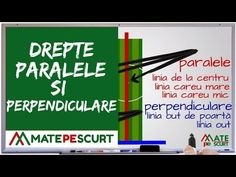 Drepte paralele si perpendiculare - YouTube Website, Youtube, Youtubers, Youtube Movies