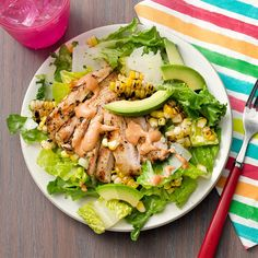 Grilled Chicken & Corn Salad with Chipotle Crema - Rachael Ray Every Day