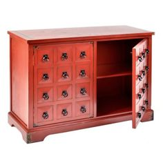 Antiqued Red Blakemore Cabinet #kirklands #redradiance