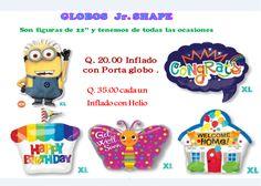 """Contamos con varios diseños de globos Junior Shape 24"""" diferentes #Ocasiones!! Bendecido Miércoles!!"""